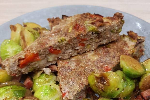 Oksefarsbrød med grøntsager